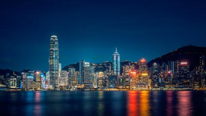 Foto op Aluminium Hong-Kong Hong Kong Island view from West Kowloon Cultural District