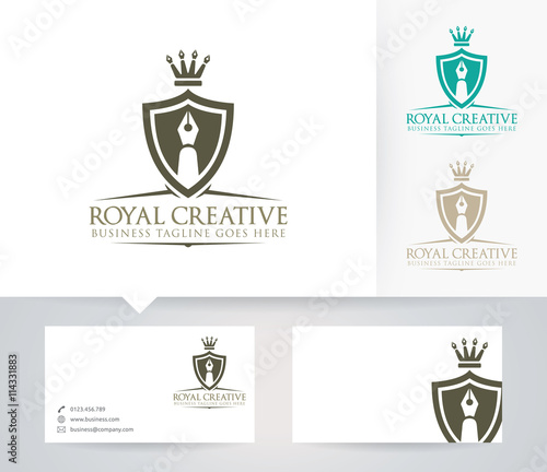 Royal Creative Vector Logo With Business Card Template