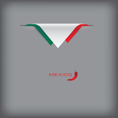 Banner with stylized Mexican flag