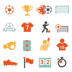 Soccer Icon set football colorful  Soccer icon vector set  football  sport Soccer Icon