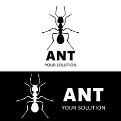 Vector logo ant. Brand's logo in the form of an ant