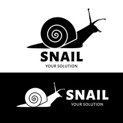 Vector logo snail. Brand logo in the shape of a snail