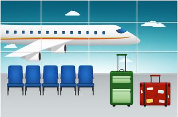 Airport Terminal. Arrival Flight.