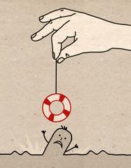 Big hand - rescue