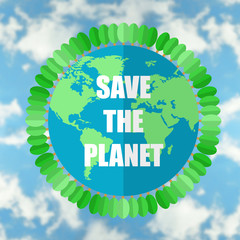 Save planet concept