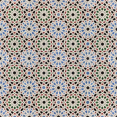 oriental mosaic background, morocco wall tiles