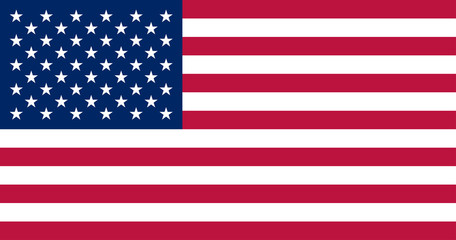 Vector USA flag, official colors and proportion correctly.