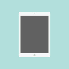 Tablet flat icon in ipad style.