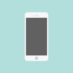 Smartphone flat icon in iphone style.
