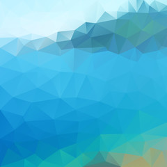 polygonal background of seascape