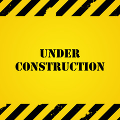 Yellow under construction background