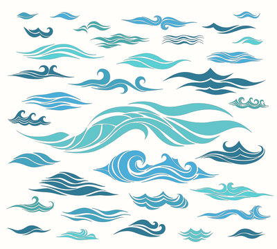 Waves set of elements