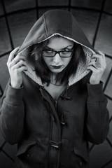 Sinister girl in the hood