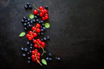 Summer berries background