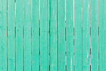 green wooden fence of planks