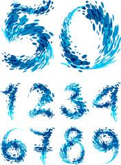 Numbers set splash