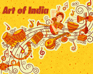 Vector design of art and music  India