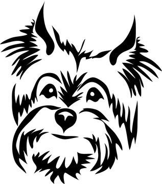 terrier dog - stylized portrait