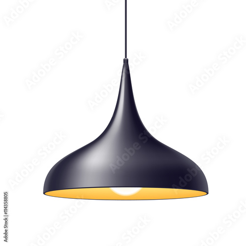 Pendant light lamp vector illustration.\