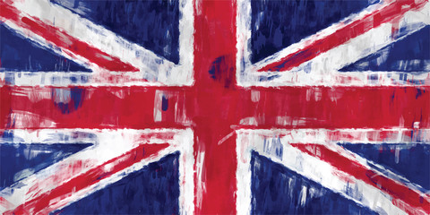 british flag painting vector