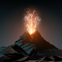 Volcano illustration