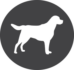 dog domestic canine animal pet hound cute icon sign symbol concept silhouette white background