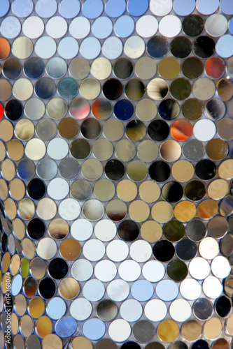 Quot Large Metal And Mirror Disc Sequins On Fabric Quot Stock