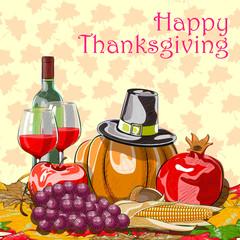Happy Thanksgiving festival celebration background
