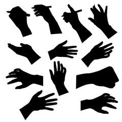 Male Hand silhouette