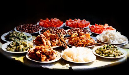 Chinese food in country