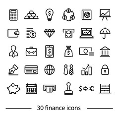 colliction of finance icons