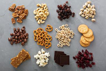 Variety of healthy snacks overhead shot Fototapete