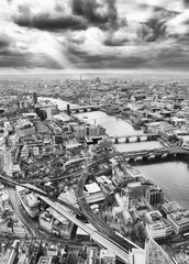 Wall Murals Bestsellers London skyline, Black and White