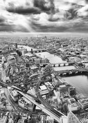 Fond de hotte en verre imprimé Bestsellers London skyline, Black and White