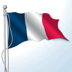 France Flag. Realistic vector.