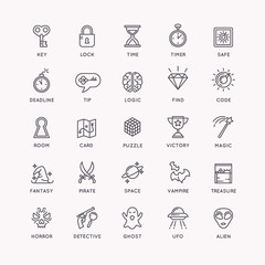 The icons set for the quest room.