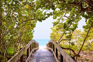 Fototapete - Florida bonita Bay Barefoot beach US