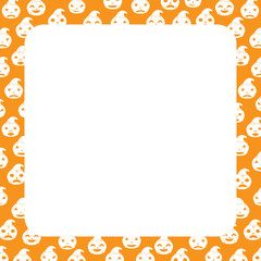 Halloween Border with Pumpkin, Square size, Halloween Theme, Kid Theme