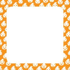Halloween Border with Pumpkin, Square size, Halloween Theme, Kid Theme