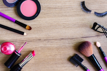 various makeup products and cosmetics