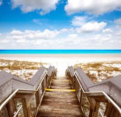 Fototapete - Destin beach in florida ar Henderson State Park