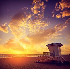 Fototapete - Fort Lauderdale beach sunrise Florida US