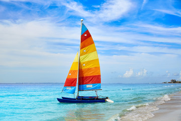 Wall Mural - Florida fort Myers beach sailboat in USA