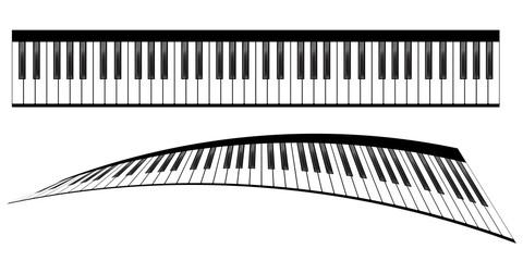 Piano keyboards set