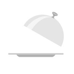 Restaurant cloche isolated