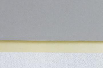Gibskartonplatte Kante zu der Wand