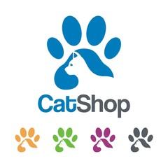 Logo footprint of cats