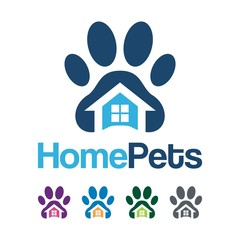 Home Pet Logo Design Illustration