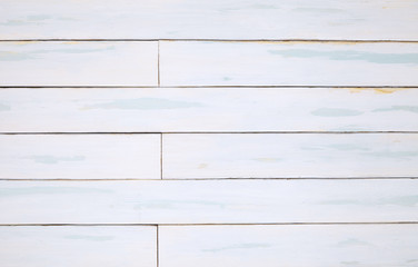 Wooden floor texture - a section of white painted distressed reclaimed wood floorboards for use as a page background