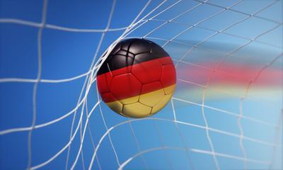 Deutschland-Fußball im Tornetz